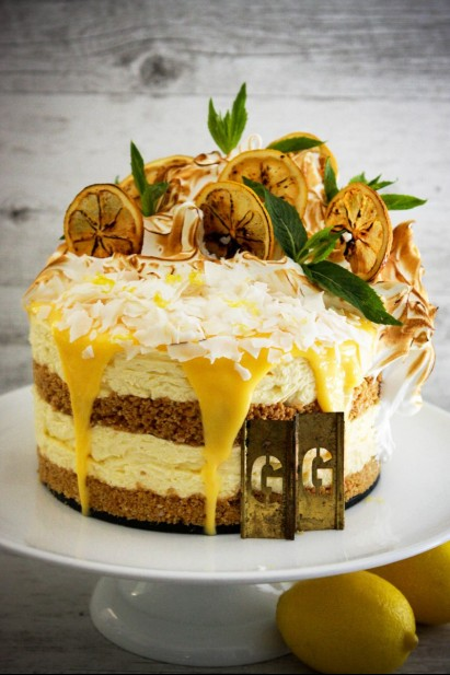 Salty Lemon Coconut Cheesecake