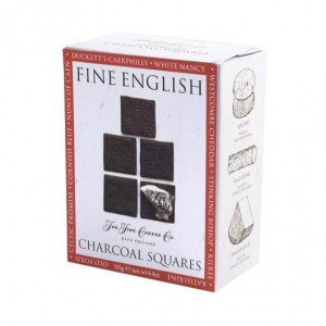 The Fine Cheese Company Fine English Charcoal Squares 125g