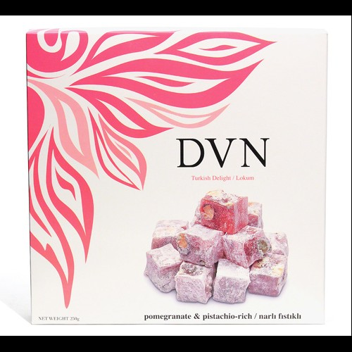 Divan pomegranate and pistachio turkish delight 250g for Divan turkish