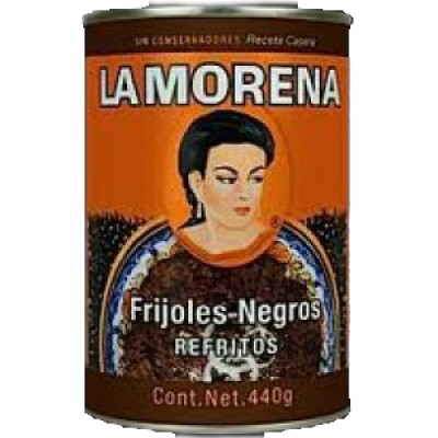 La Morena Refried Black Beans
