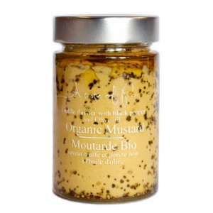 A Taste Of Paris Organic Black Pepper And Truffle Mustard