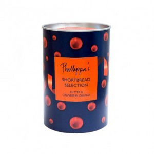 Phillippa's Butter Shortbread Selection in a gift canister